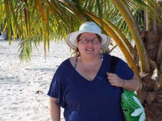 In my beach coverup